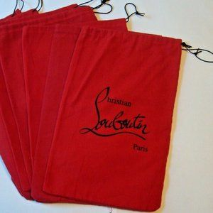 CHRISTIAN LOUBOUTIN Red Flannel Shoe Dust Bag (1)